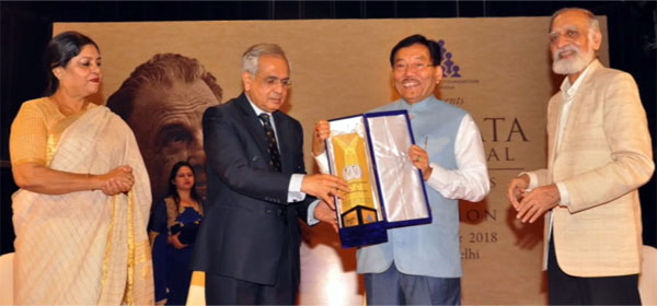 Sikkim CM receives 6th JRD Tata Memorial Award