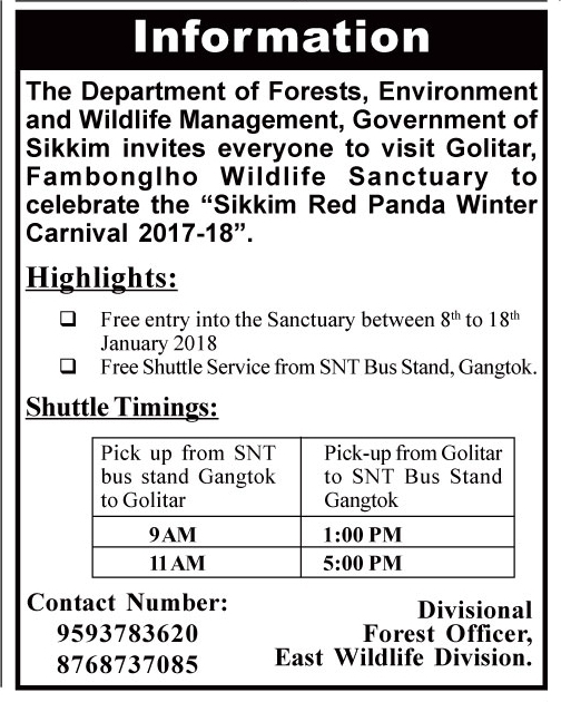 Forests Environment  Wildlife Management Department  Government  Forests Environment  Wildlife Management Department  Government Of Sikkim