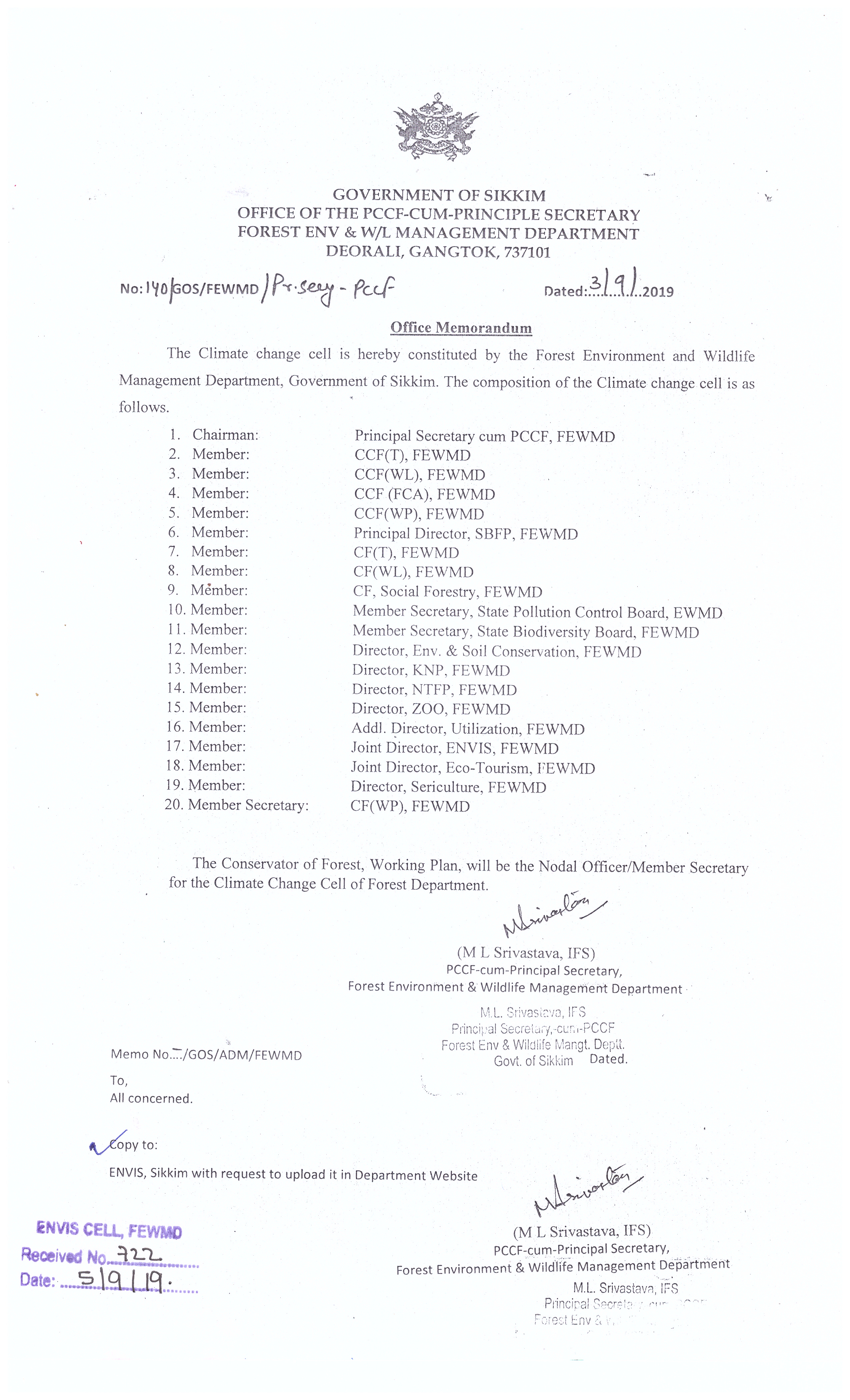 Forests, Environment & Wildlife Management Department ...