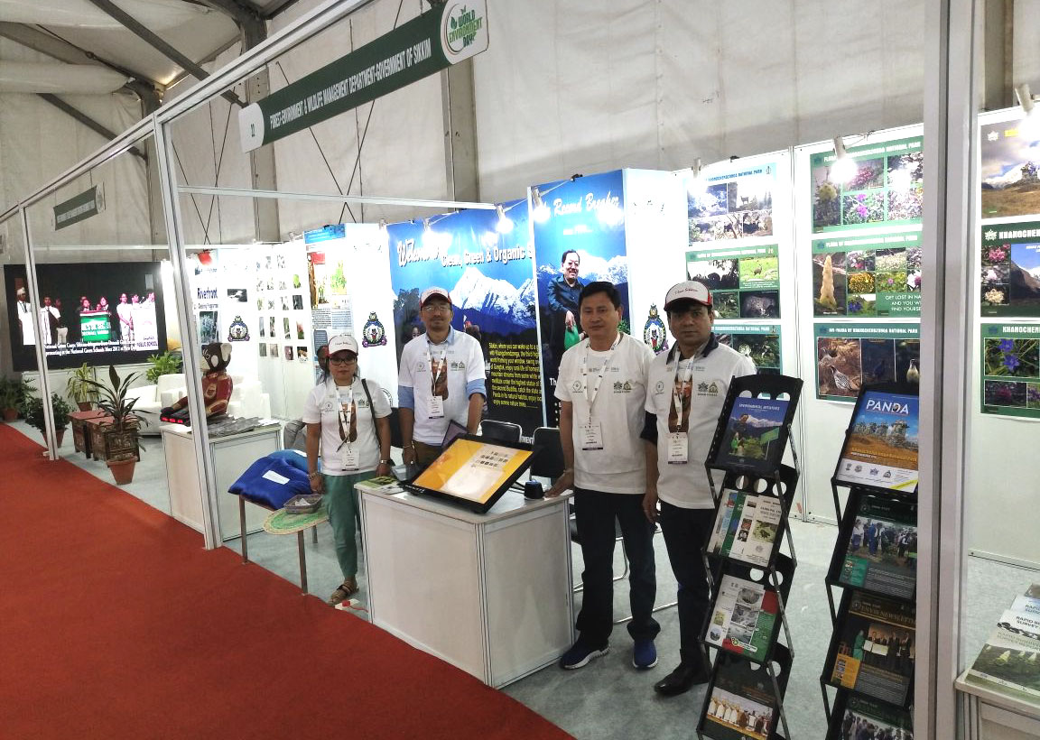 Sikkim ENVIS team at WED exhibition2018 at New Delhi