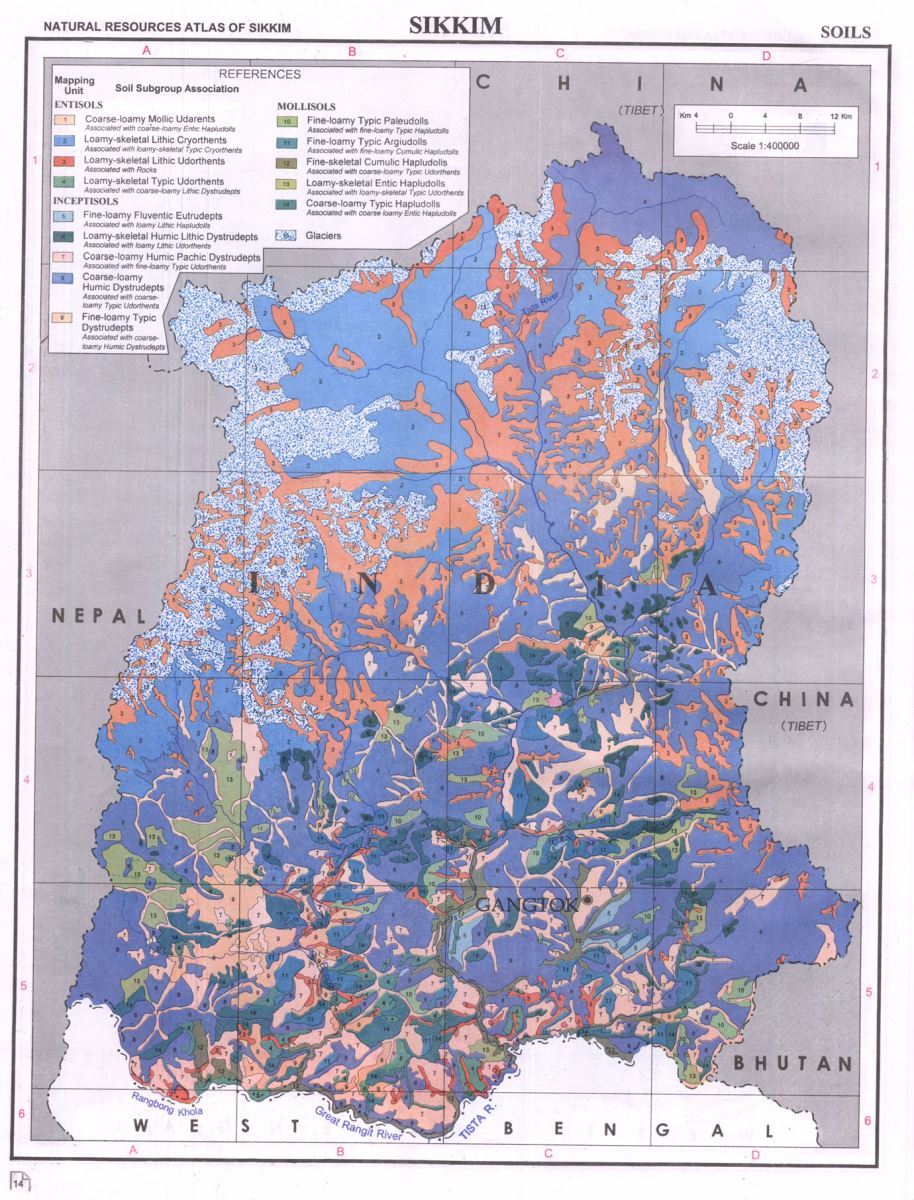 Soil Map of Sikkim